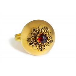 "18K Gold filigree ring ""MELOGRANO"""