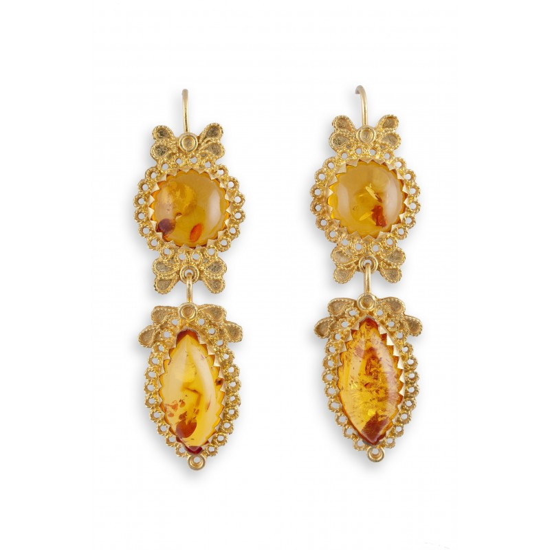 "18K gold earrings ""LUCE DI FOGLIE"""