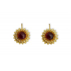 "18K Gold filigree earrings ""STELLA"""