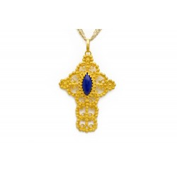 "18K Gold filigree pendant ""CROCE"""