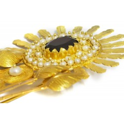 "18K Gold filigree brooch ""MARGHERITA"""