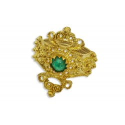 "18K Gold filigree ring ""ETRUSCO"""
