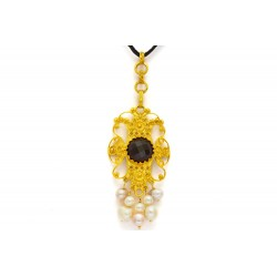 "18K Gold filigree pendant ""WATERFALL"""