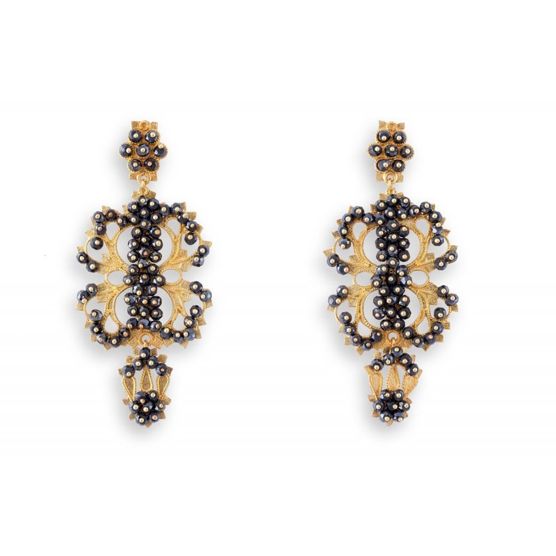 "18K gold earrings ""SOGNO"""