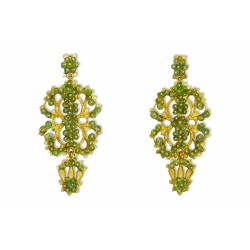 "Gold filigree earrings ""SOGNO DI SMERALDI"""