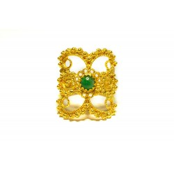 "18K Gold filigree ring ""ALI DI FARFALLA"""