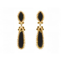 "18K gold earrings ""TEMPIO"""