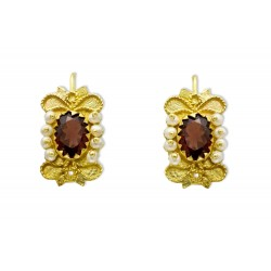 "18K Gold filigree earrings ""ROMANTICO"""