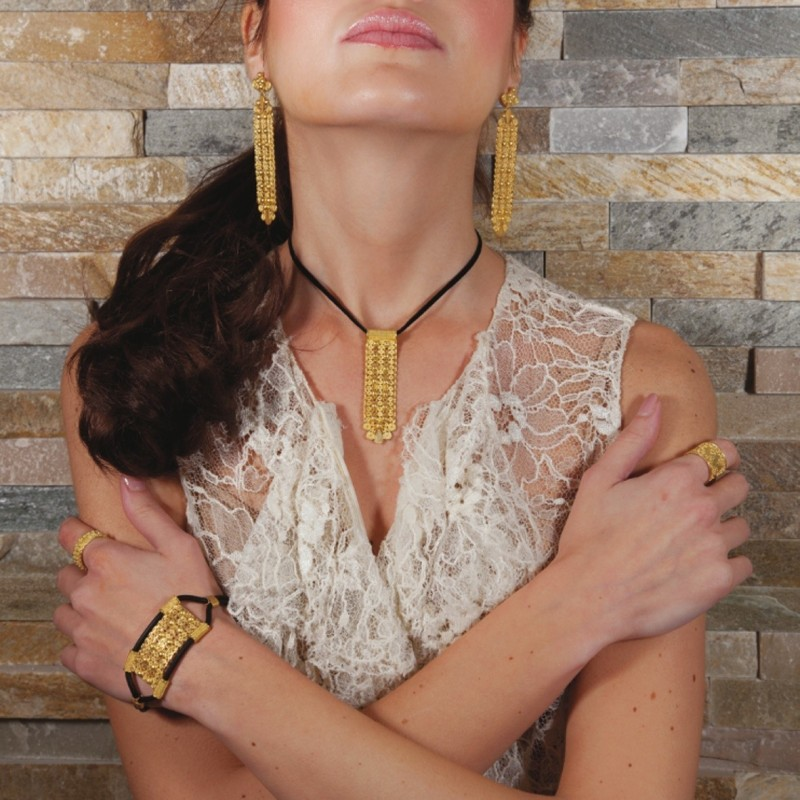 """18K Gold Jewelry Set """"PIZZO REGALE"""""""