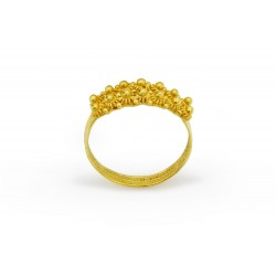 "18K Gold filigree ring ""FEDE SARDA"""