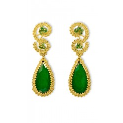 "18K Gold filigree earrings ""AURORA BOREALE"""