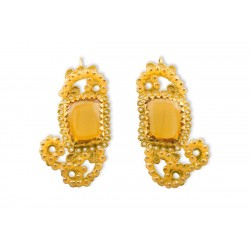 "18K Gold filigree earrings ""GAUDI'"""