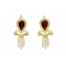 "18K Gold filigree earrings ""DONZELLA"""