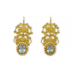 "18K Gold filigree earrings ""MOVIMENTO"""