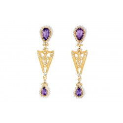 "18K Gold filigree earrings ""SOPHISTICATED"""