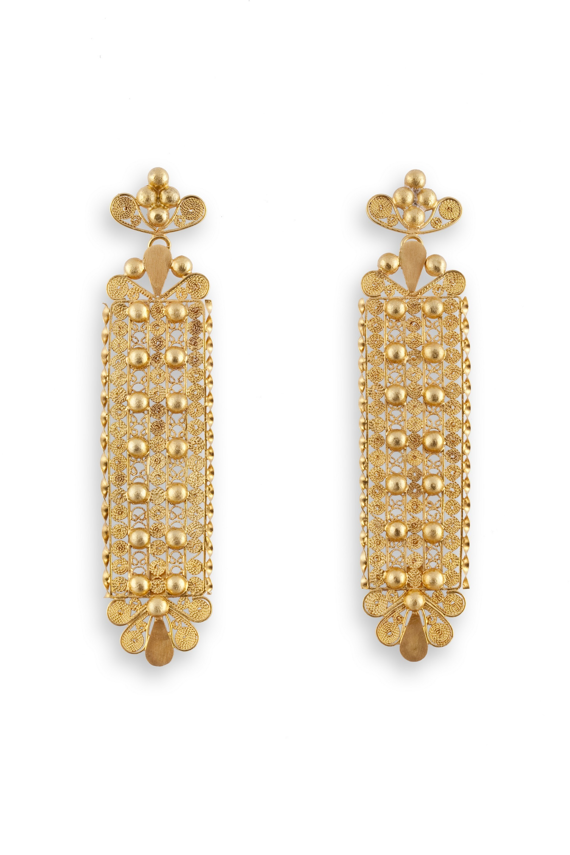en home pizzo earrings gold regale sardinian filigree in