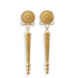 "18K gold earrings ""BOTTONE"""