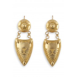 "Filigree earrings in Gold 18K ""SCUDO"""
